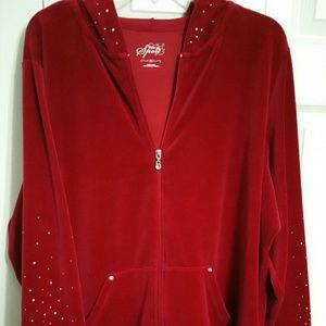 Style & Co Sport size 2X Velour hoodie/jacket